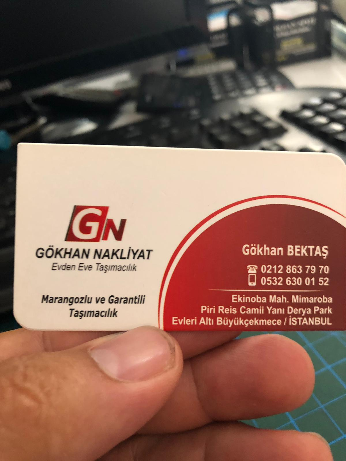 Gökhan Nakliyat Karvizit 2019